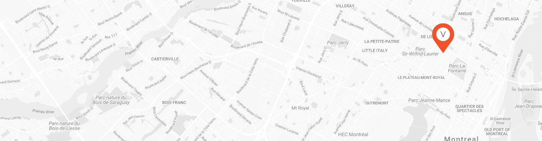 carte et emplacement de chez Victoire